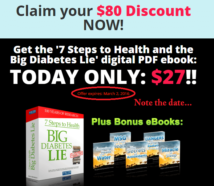 big diabetes lie scam