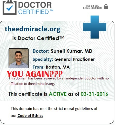 dr suneil kumar ed miracle doctor certified scam