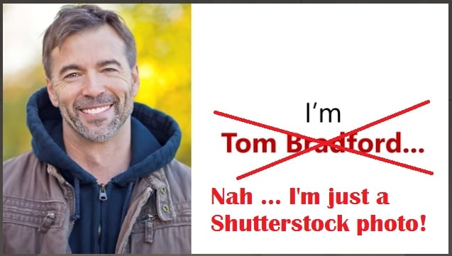 tom bradford ed miracle is fake stock photo from shutterstock