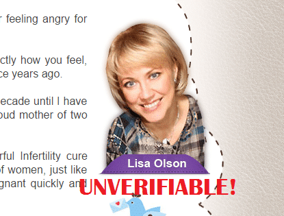lisa olson pregnancy miracle scam