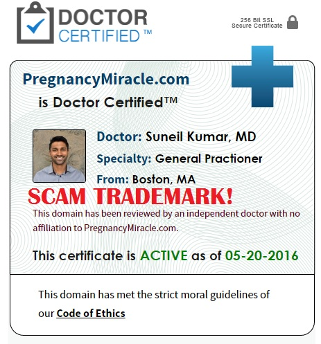 pregnancy miracle doctor certified scam