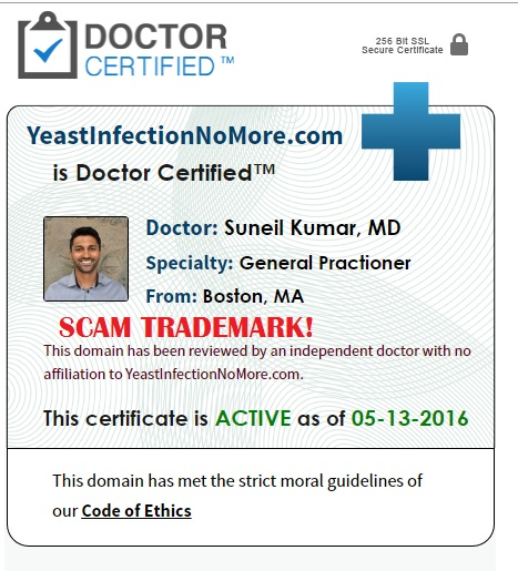 yeast infection no more doctor certified scam
