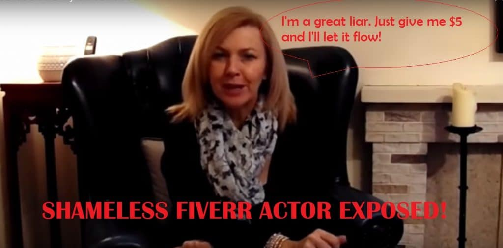 fiverr actor fake testimonial joint pain relief codes scam