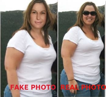 liz swann miller fake before photo red tea detox scam
