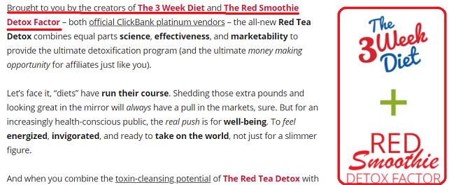 red tea detox part of 3 week diet scam empire