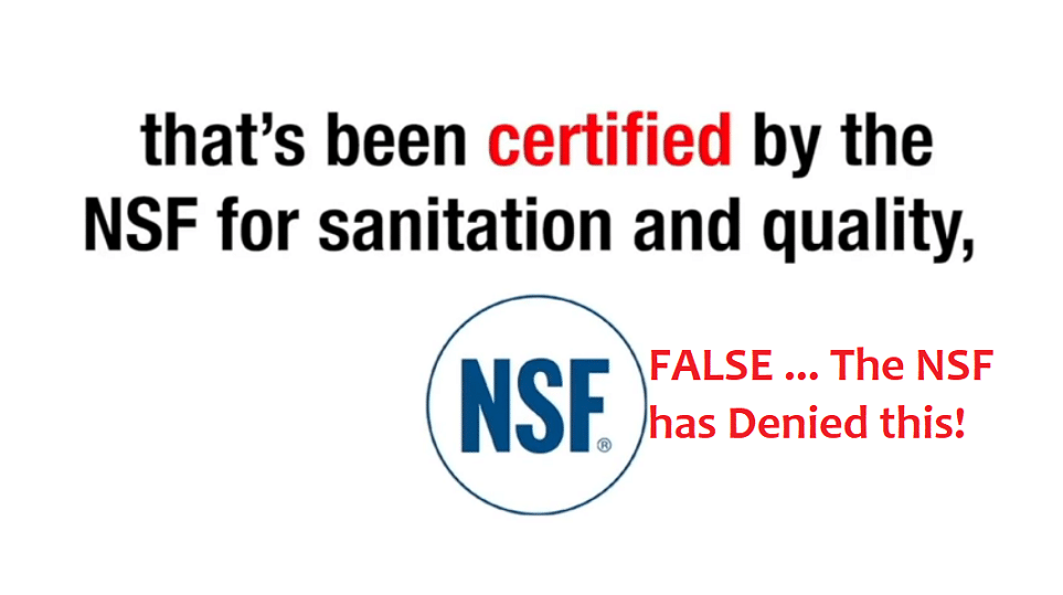 zenith labs nsf certification falsehood