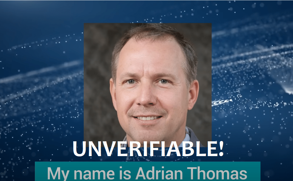 adrian thomas unverifiable identity proven review