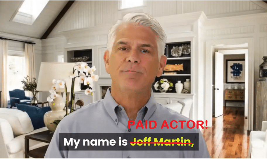 jeff martin paid actor heartburn no more review