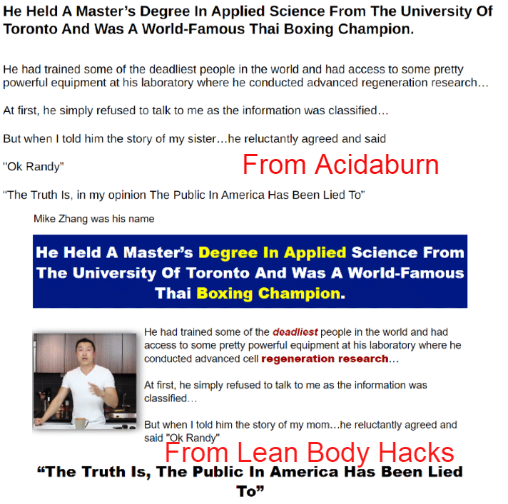 acidaburn weight loss supplement is similar to lean body hacks