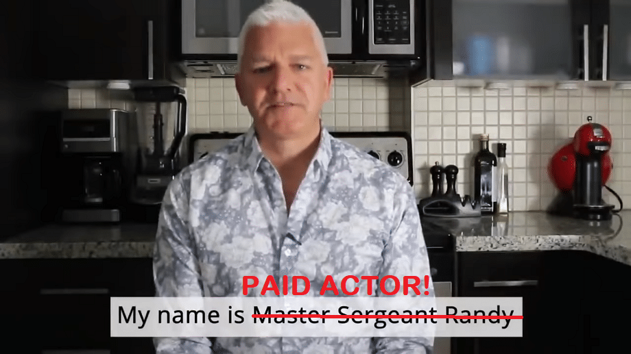 master sergeant randy walker paid actor acidaburn review