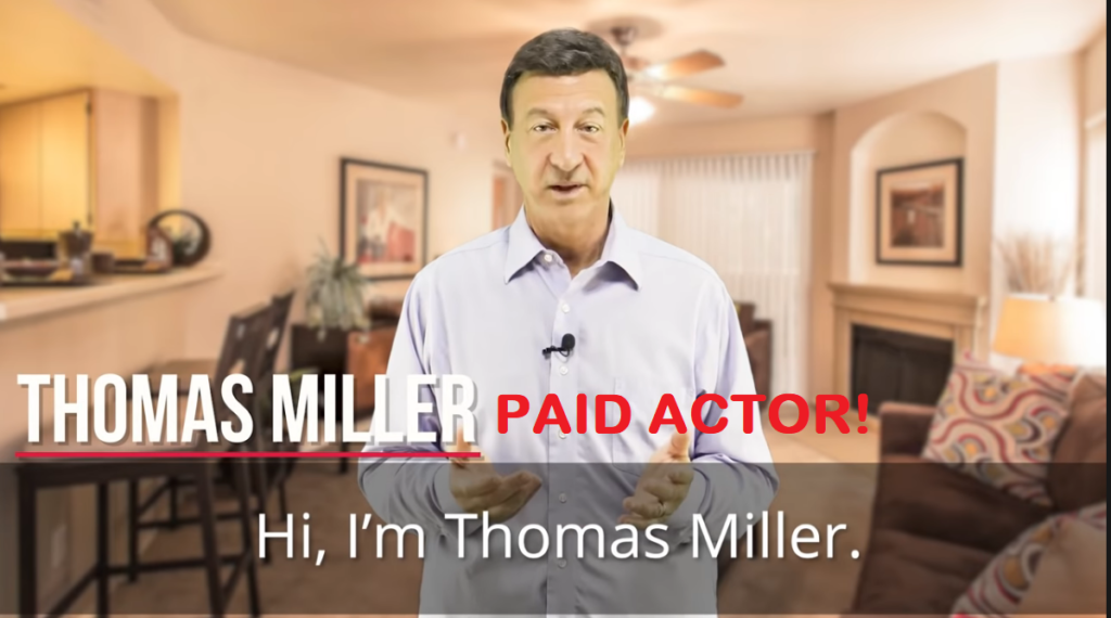 thomas miller paid actor alive review