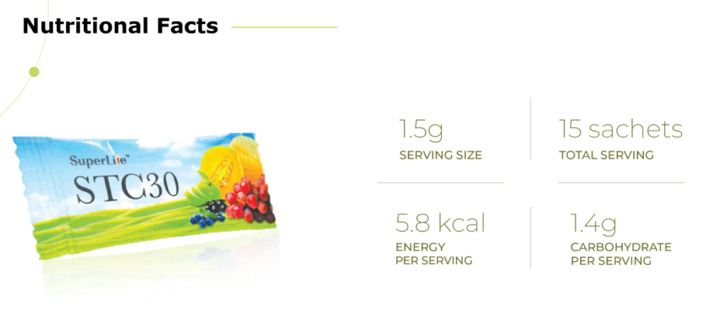 stc30 review nutrition facts